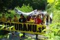 Fotografia: Pochod proti ťažbe uránu na Slovensku, fotograf: Martin Markech, tagy: urán, ťažba