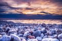 Fotografia: Tam niekde v diaľke..., fotograf: Martina Kolibášová, tagy: Stones, lake, sunset