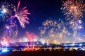 Fotografia: Keď populácia oslavuje, fotograf: Denis Goga, tagy: silvester, polnoc, ohňostroj, tribeč, hora
